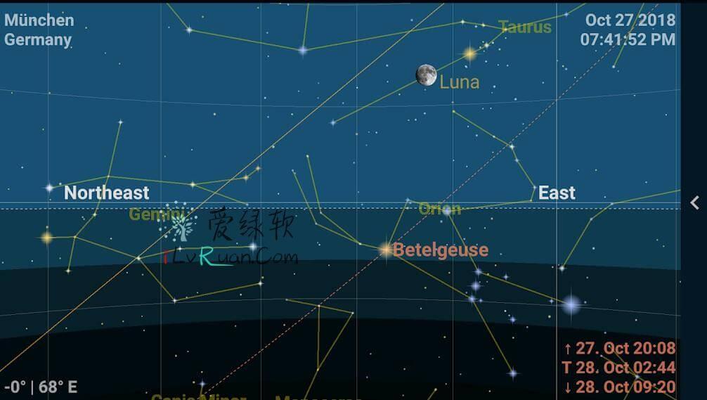 安卓 行星地图和天空地图Astrolapp Live Planets and Sky Map on