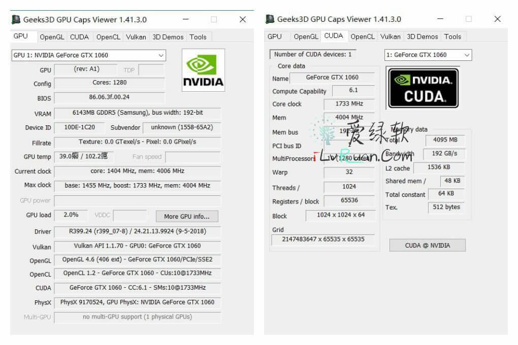 显卡工具GPU Caps Viewer v1 42 4 0 绿色便携版-爱绿软